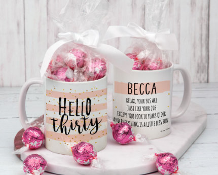 BIRTHDAY MUGS WITH LINDT