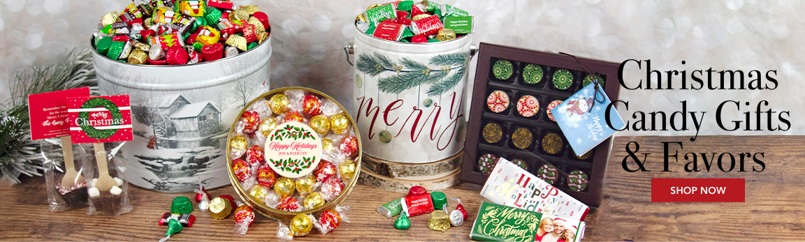 Personalized Christmas Candy Gifts & Favors