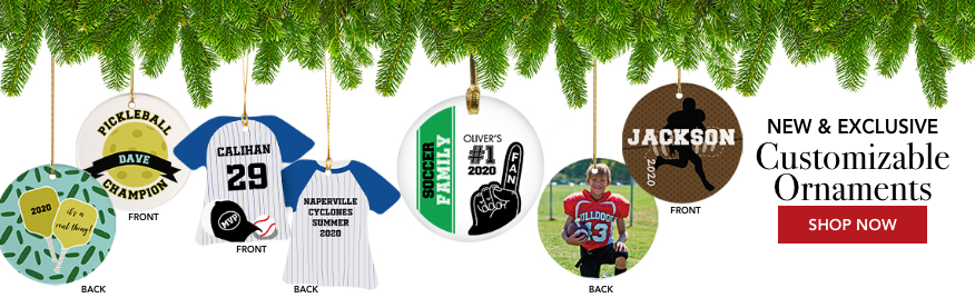 Sports Customizable Ornaments