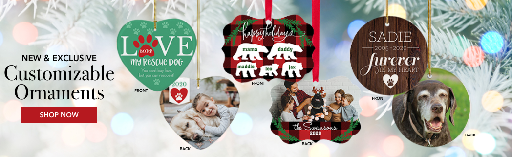 Personalized Pets & Animals Christmas Ornaments