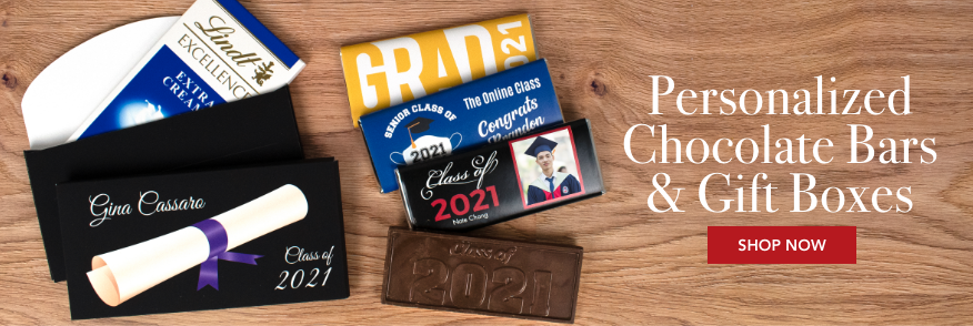 Personalized Graduation Chocolate Bars