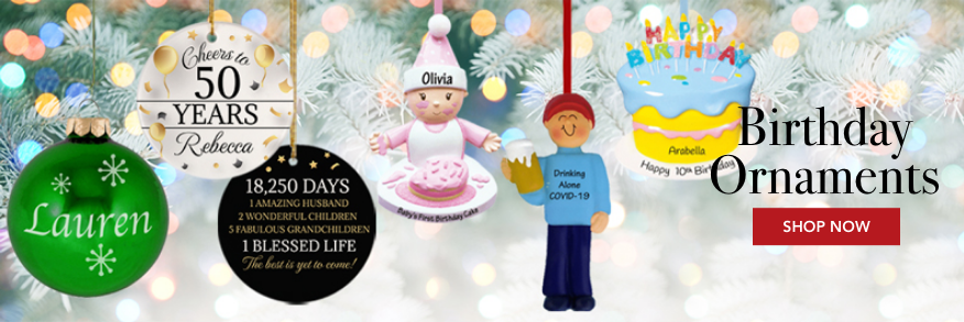 Personalized Birthday Ornaments