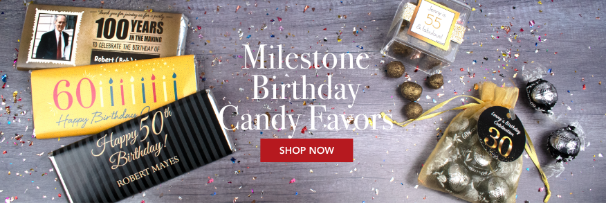 PERSONALIZED MILESTONE CANDY FAVORS
