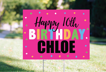 PERSONALIZED BIRTHDAY YARD SIGNS AND BANNERS