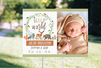 PERSONALIZED BABY YARD SIGNS AND BANNERS
