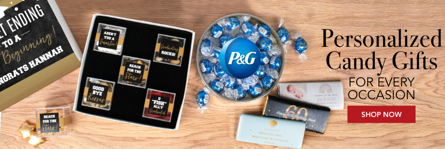 PERSONALIZED CANDY GIFTS AND FAVORS