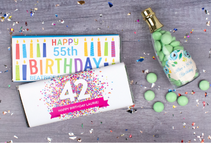 PERSONALIZED BIRTHDAY CANDY GIFTS & FAVORS
