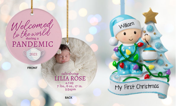 Personalized baby ornaments