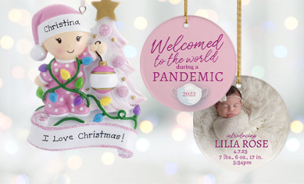 Personalized Baby Girl Ornaments