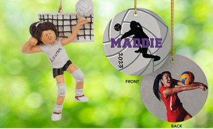 Voleyball Personalized Christmas Ornaments