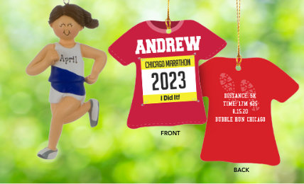 Running  Personalized Christmas Ornaments