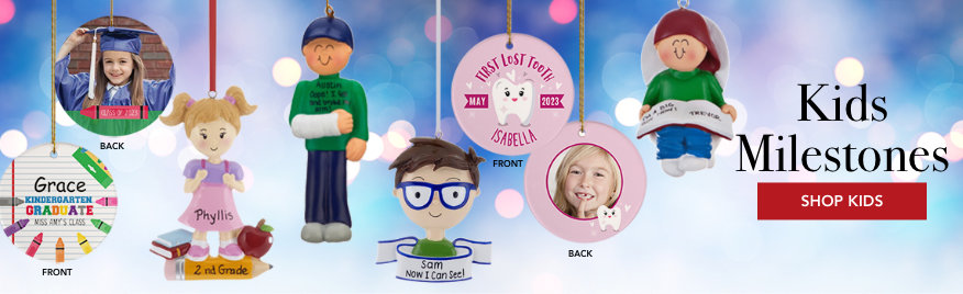 Kids Milestones Personalized Christmas Ornaments