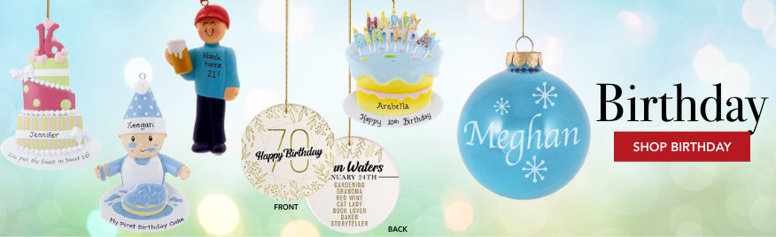 Birthday Personalized Christmas Ornaments