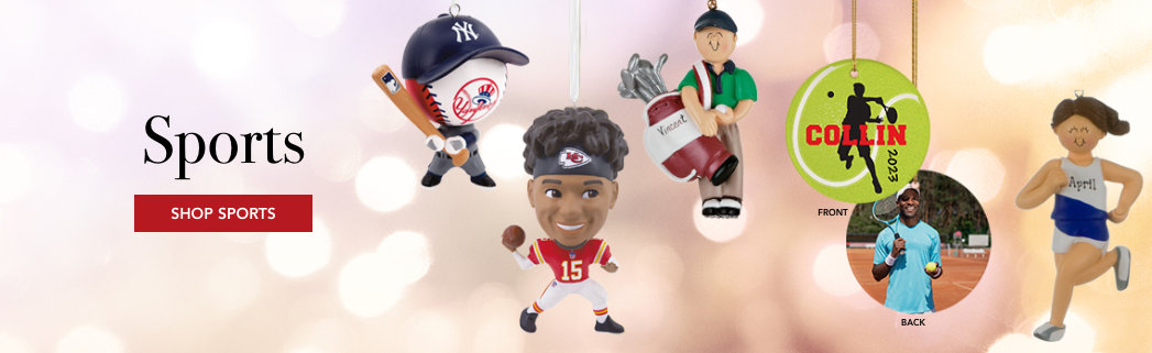 Personalized Sports Christmas Ornaments