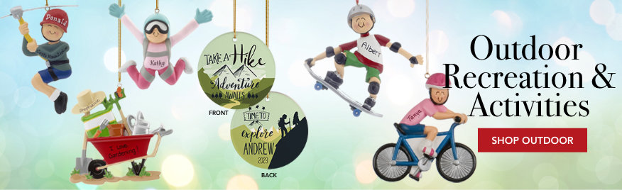 Hobby Personalized Christmas Ornaments