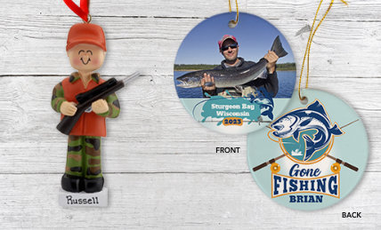 Fishing & Hunting Personalized Christmas Ornaments