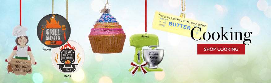 Cooking Personalized Christmas Ornaments