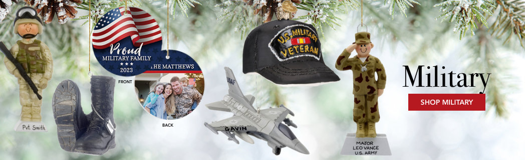 Personalized Military Christmas Ornaments