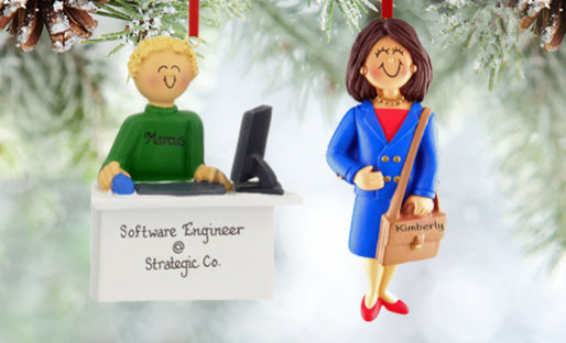 Personalized Business Professionals Christmas Ornaments