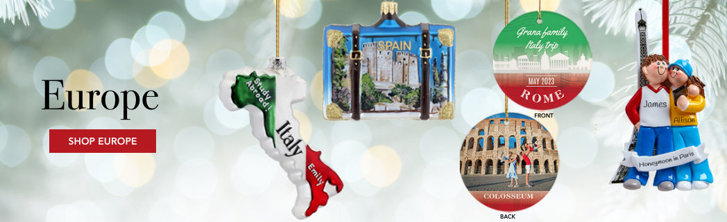 Personalized Europe Christmas Ornaments