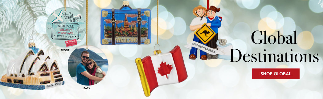 Personalized Global Travel Ornaments