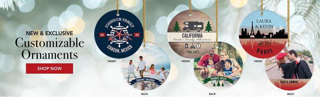 Personalized Travel Christmas Ornaments