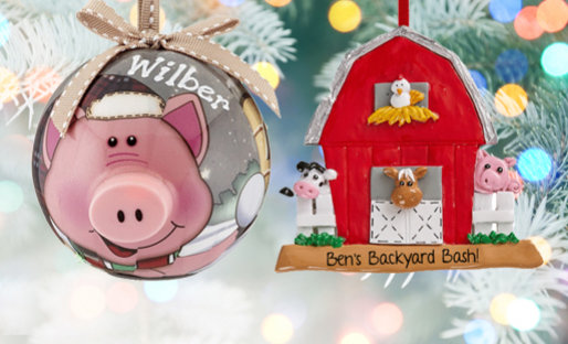 Personalized Small Animals Christmas Ornaments