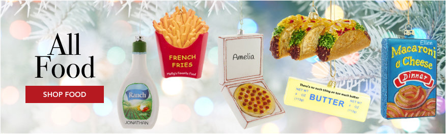 Personalized Food Ornaments