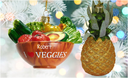 fruit and vegetables ornaments