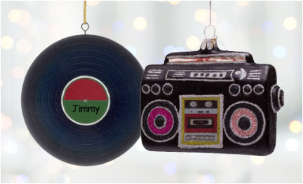 Personalized Music ornaments