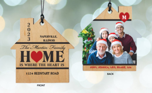 New Home Customizable Ornaments