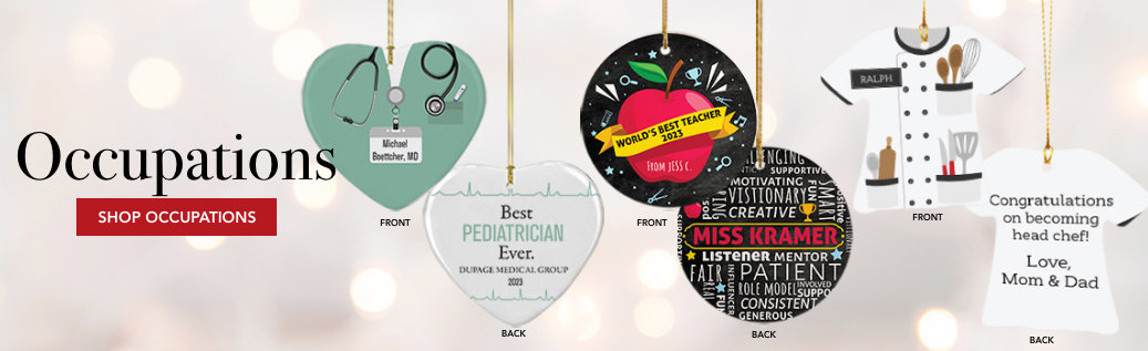 Occupations Customizable Ornaments