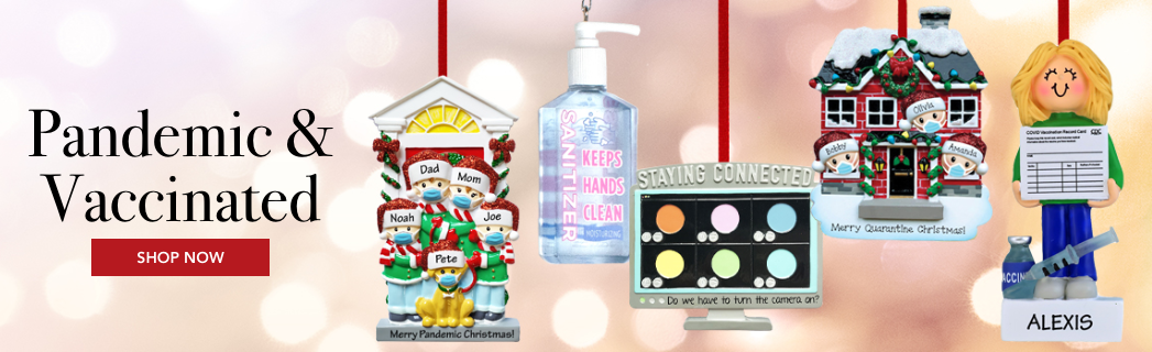 Personalized Pandemic Christmas Ornaments