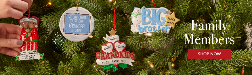 Family Members Personalized Christmas Ornaments
