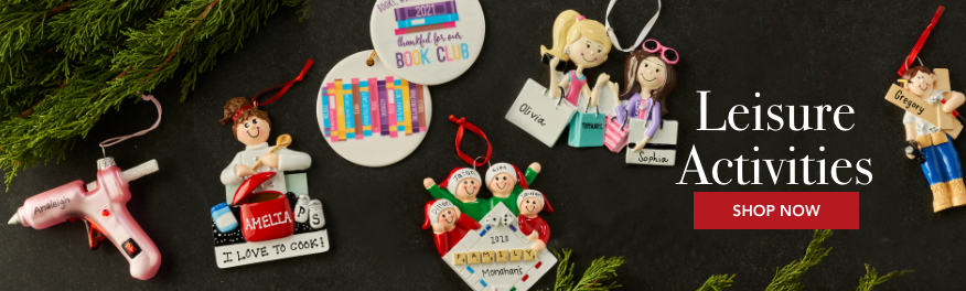 Lesiure Activities Personalized Christmas Ornaments
