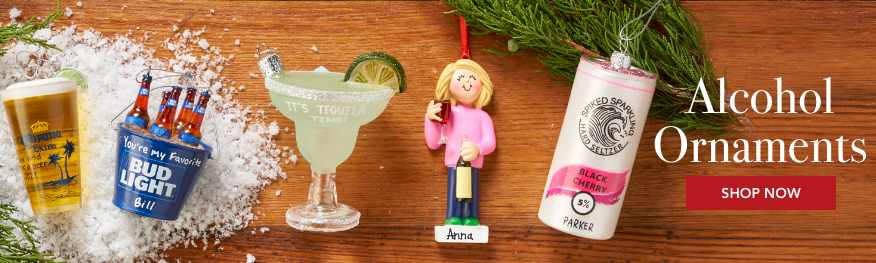 Personalized Alcohol ornaments