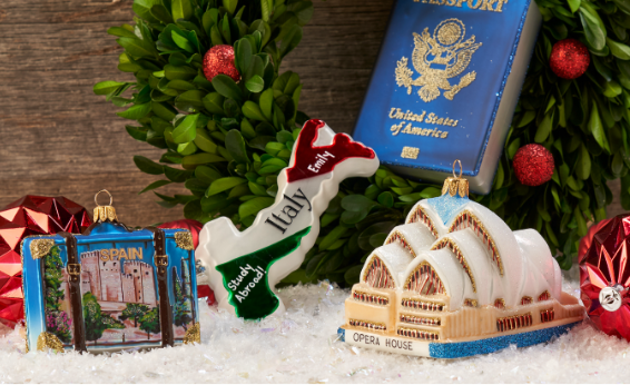PERSONALIZED TRAVEL ORNAMENTS