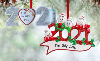 Personalized 2020 Ornaments