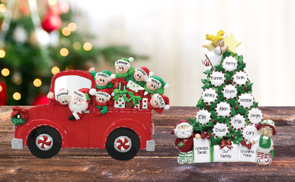 Personalized TABLE TOP ORNAMENTS