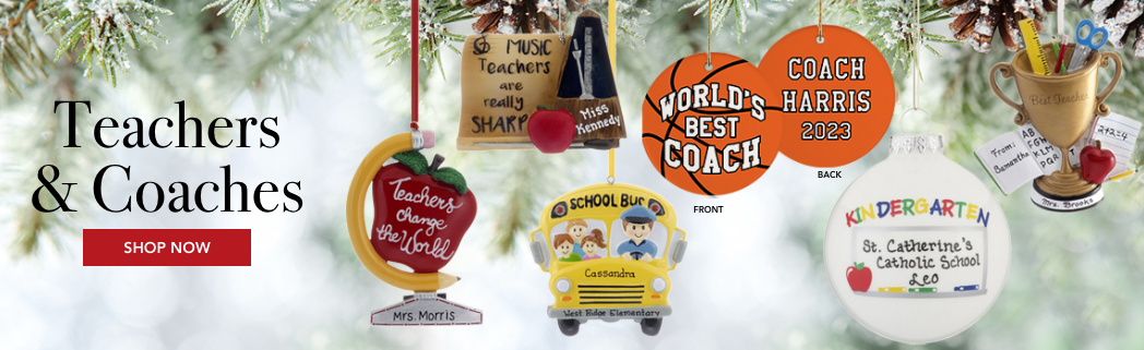 Personalized Education Christmas Ornaments