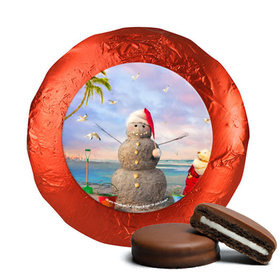 Christmas Tropical Snowman Chocolate Covered Oreos