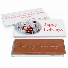 Deluxe Personalized Christmas Santa's Gift Chocolate Bar in Gift Box