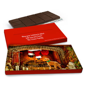Deluxe Personalized Christmas Santa's Gift Chocolate Bar in Gift Box (3oz Bar)
