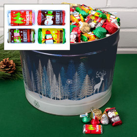 Crystal Evening Hershey's Holiday Mix Tin - 14 lb