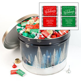 Personalized Crystal Evening Happy Holidays Hershey's Mix Tin - 14 lb