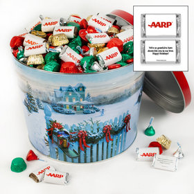 Personalized Christmas Mail Merry Christmas Hershey's Mix Tin - 14 lb