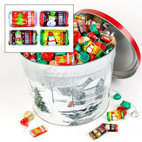 Snow Covered Mill Hershey's Holiday Mix Tin - 14 lb
