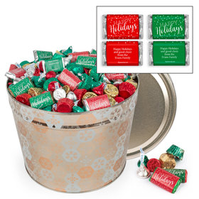 Personalized Shining Snowflakes Happy Holidays Hershey's Mix Tin - 14 lb