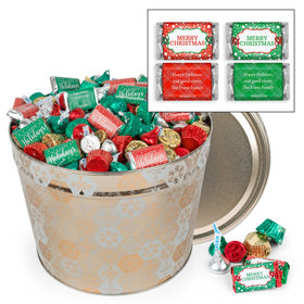 Personalized Shining Snowflakes Merry Christmas Hershey's Mix Tin - 14 lb