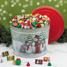 Snow Family Happy Holidays Hershey's Mix Tin - 10 lb